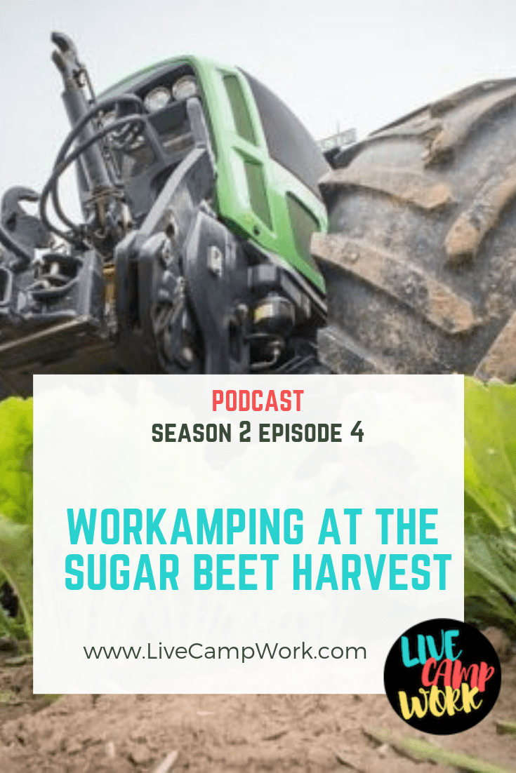In this Episode, I'm covering the information you need to know about the Workamping program offered by Express Employment Professionals regarding the Sugar Beat Harvest. This program is said to be on elf the most profitable and most intense Workamping jobs for RVers. In just 2 weeks you could walk away with $2500.00- tune in to find out what it's all about.
