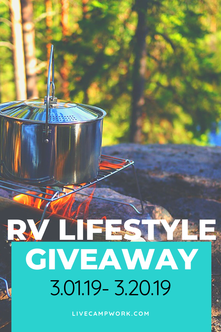 Live Camp Work is hosting an RV Lifestyle Product Giveaway for RVers who RV Fulltime.