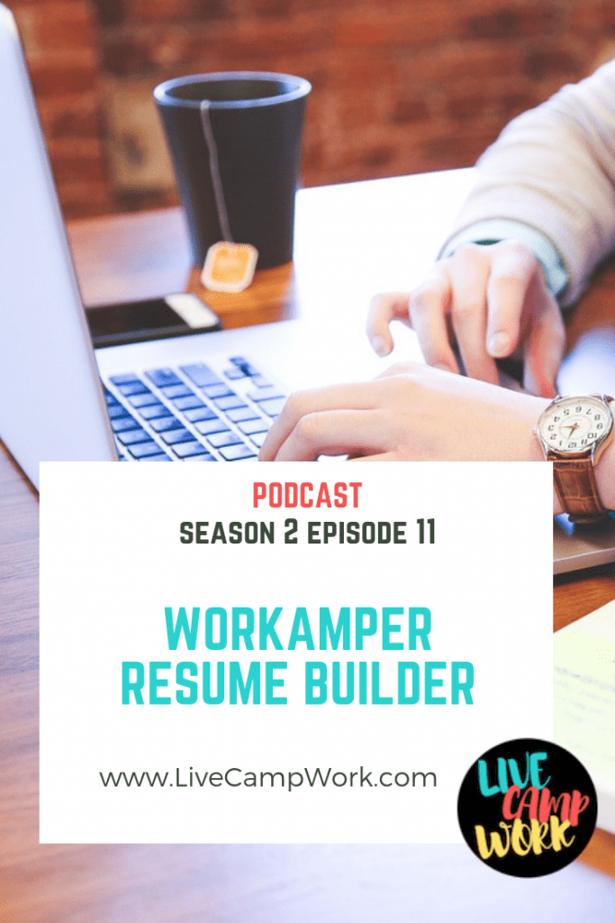 Workamper Resume Builder tool helps RVers find jobs.