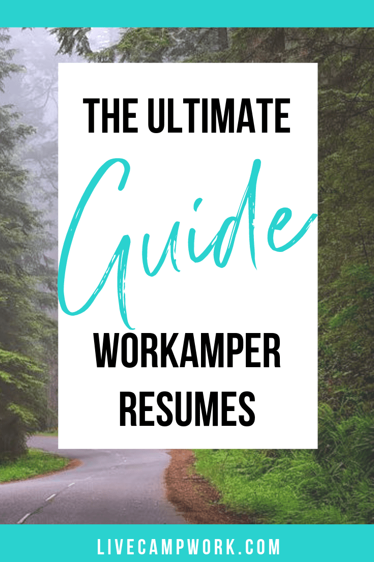 Workamping Resumers allow RVers to grab jobs along the way with various Workamping Employers. Use the tips and information included in this guide to help you get the perfect jobs!