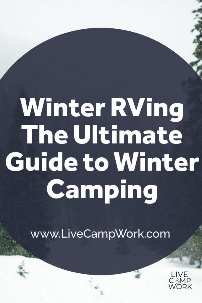 Winter RVing Tips on Pinterest