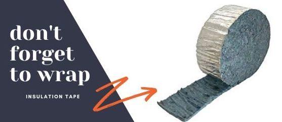Winter RVing insulation tape