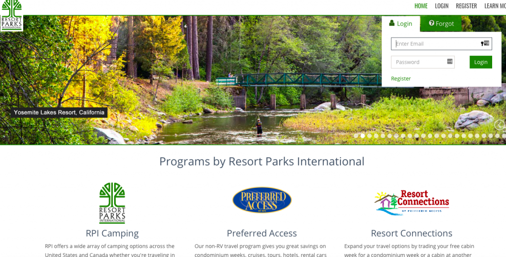 Thousand Trails Memberships include RPI